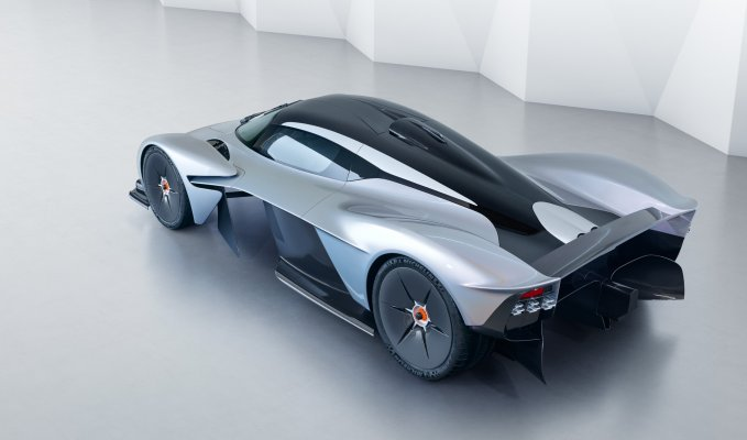 Aston Martin Valkyrie rear side top view