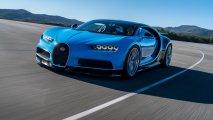 Bugatti Chiron front view race track