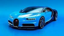 Bugatti Chiron front view studio