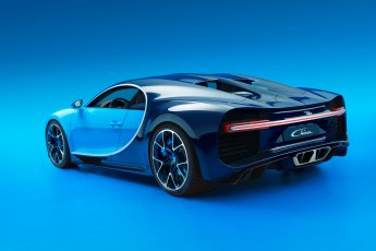Bugatti Chiron rear side view