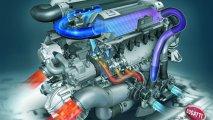 Bugatti Veyron 16.4 engine view cross section