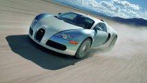 Bugatti Veyron 16.4 front side view speeding