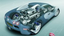 Bugatti Veyron 16.4 powertrain view