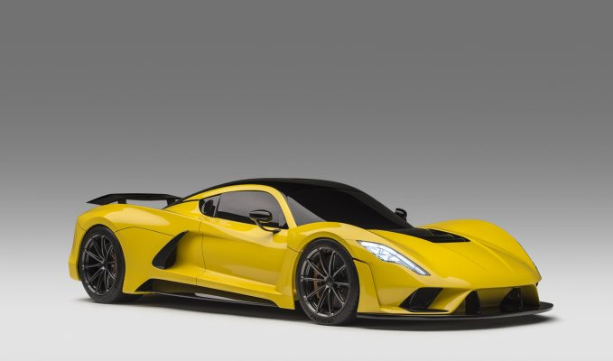 Hennessey Venom F5 front side view