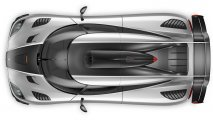 Koenigsegg One:1 top view clean