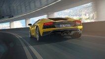 Lamborghini Aventador S rear view lights on