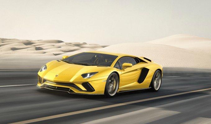 Lamborghini Aventador S front side view