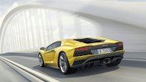 Lamborghini Aventador S rear side view