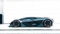 Lamborghini Terzo Millennio side view in garage