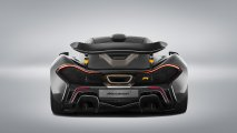 McLaren P1 rear view grey