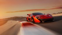 McLaren P1 front side view racetrack