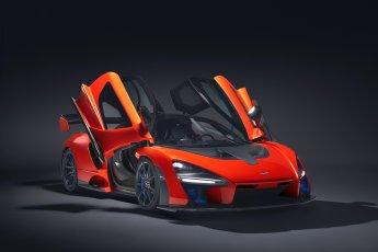 McLaren Senna doors open front side