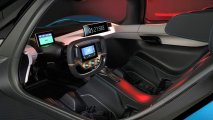 NIO EP9 electric hypercar interior view