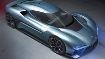 NIO EP9 electric hypercar front side view top