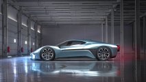 NIO EP9 electric hypercar side view