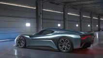 NIO EP9 electric hypercar rear side view