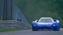 NIO EP9 electric hypercar front view Nürburgring