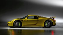 Porsche 918 Spyder side view