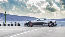 Rimac Concept One side view with sky