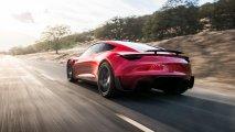 Tesla Roadster rear side on road