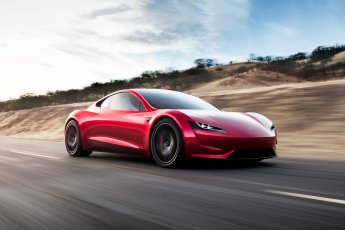 Tesla Roadster front side view